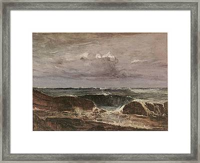 The Blue Wave Biarritz Framed Print by James Abbott McNeill Whistler