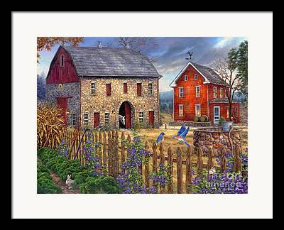 Charming Cottage Framed Prints