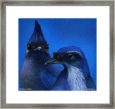 The Blues Brothers... Framed Print by Will Bullas