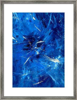 Framed Print featuring the painting The Blues by Carolyn Repka