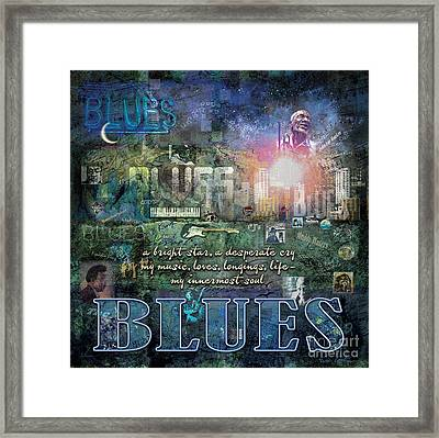 The Blues Framed Print by Evie Cook