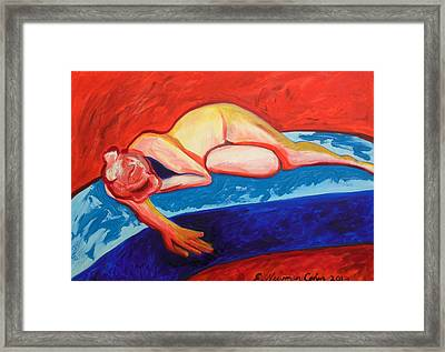 The Blues In Red Rhapsody Framed Print