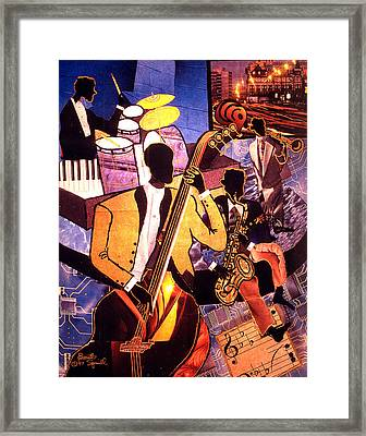 The Blues People Framed Print by Everett Spruill