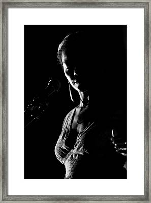 The Blues Singer Framed Print