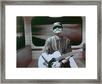 The Blues Train Framed Print