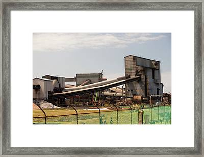 The Bluescope Steel Works Framed Print by Ashley Cooper