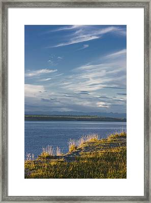 The Bluff Along The Tony Knowles Framed Print