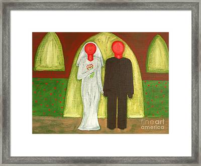 The Blushing Bride And Groom Framed Print by Patrick J Murphy