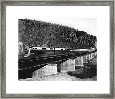 The B&o Capitol Limited Train Framed Print by Underwood Archives