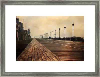 The Boardwalk Framed Print by Lori Deiter