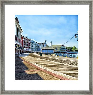 The Boardwalk Sidewalk Walt Disney World Framed Print by Thomas Woolworth