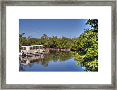 The Boat And The River Framed Print by Ines Bolasini