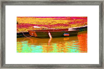 The Boat Framed Print by Barbara McDevitt
