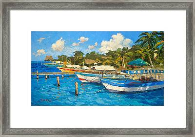 The Boat By The Shore Framed Print by Dmitry Spiros