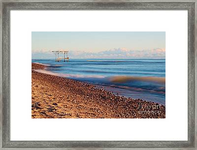 The Boat Hoist Framed Print