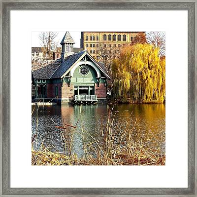The Boat House Framed Print by Marvin Washington