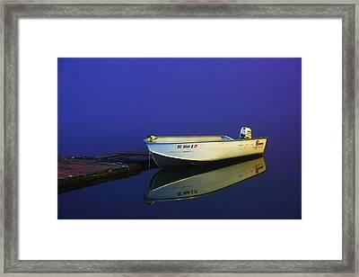 The Boat In The Fog Framed Print