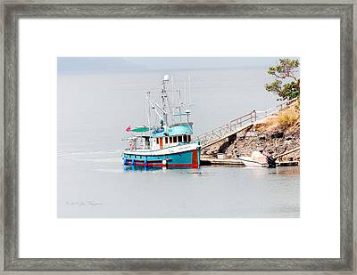Framed Print featuring the photograph The Boat by Jim Thompson