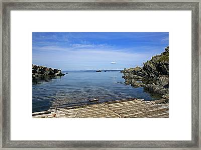 The Boat Launch Framed Print