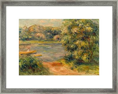 The Boat On The Lake Framed Print
