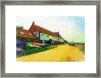 The Boathouse Burnham Overy Staithe Framed Print by Chris Thaxter