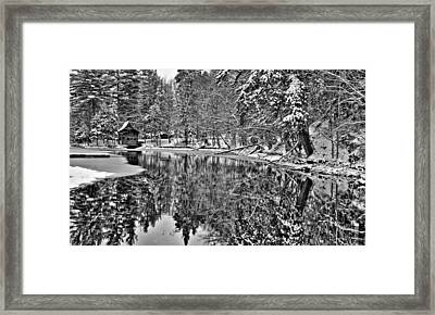 The Boathouse In Old Forge Framed Print by David Patterson