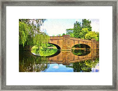 The Boating Lake At Thompson Park Burnley Framed Print by Peter McHallam