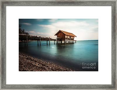 The Boats House II Framed Print by Hannes Cmarits