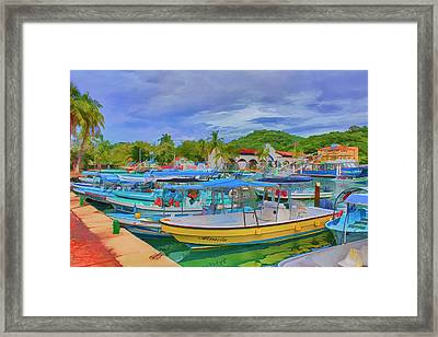 The Boats Of Hautulco Framed Print