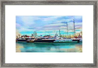 The Boats Of Malaga Spain Framed Print
