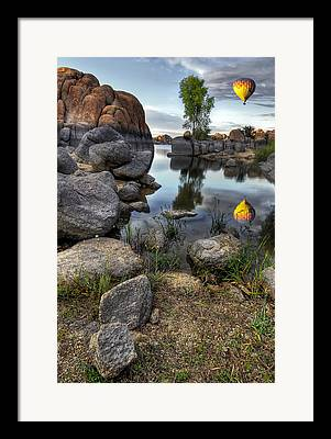Watson Lake Reflections Framed Prints