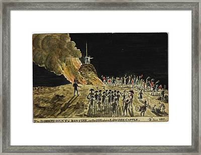 The Bobbery Hunt's Bonfire Framed Print