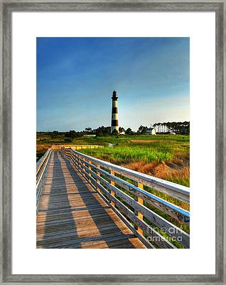 The Bodie Island Light Framed Print by Mel Steinhauer