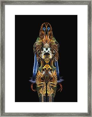 The Body Framed Print by Bear Welch