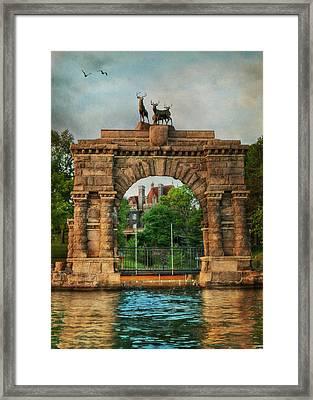 The Boldt Castle Entry Arch Framed Print