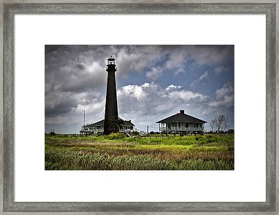 The Bolivar Lighthouse Framed Print by Linda Unger