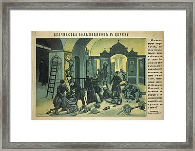 The Bolsheviks' Atrocities Framed Print
