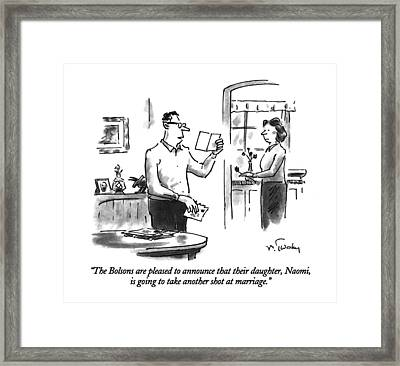 The Bolsons Are Pleased To Announce That Framed Print