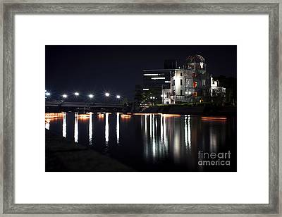 The Bomb Dome At Night Framed Print by Samantha Frey