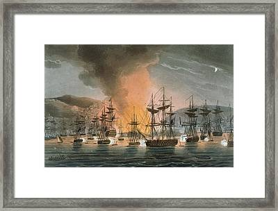 The Bombardment Of Algiers Framed Print by Thomas Whitcombe
