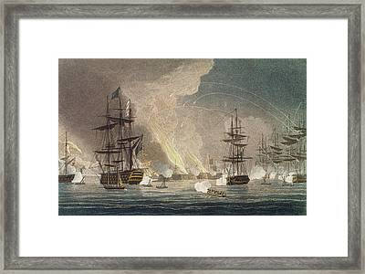 The Bombardment Of Algiers By The Royal Framed Print by Thomas Whitcombe