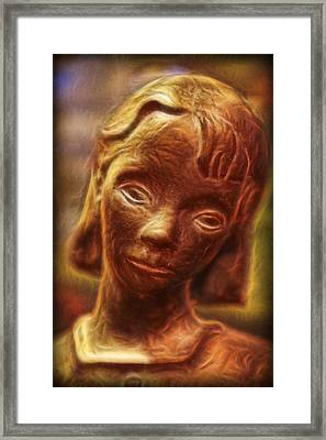 The  Bonaventure Bird Girl - Sadness  Framed Print