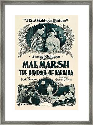 The Bondage Of Barbara, Us Poster, Top Framed Print by Everett