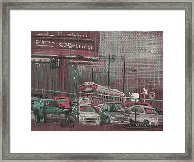 Framed Print featuring the painting The Boneyard by Donald Maier