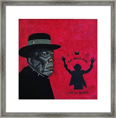 The Boogie Man.john Lee Hooker. Framed Print by Ken Zabel