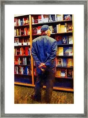 The Book Browser Framed Print by RC deWinter