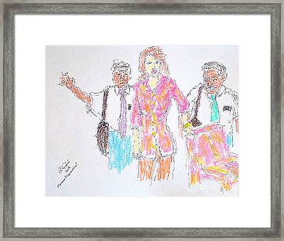 The Book Of Mormon Missionaries 10 Framed Print by Richard W Linford