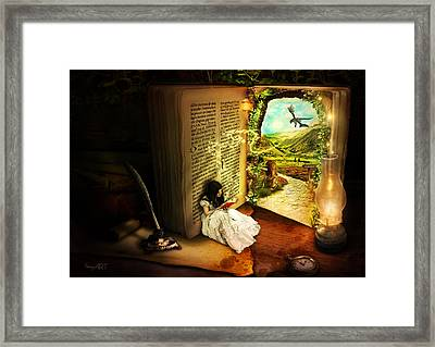 The Book Of Secrets Framed Print by Donika Nikova - ShaynArt