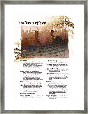 The Book Of You Framed Print by Ron Cantrell