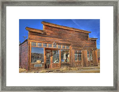 The Boone Store And Warehouse Framed Print by Donna Kennedy